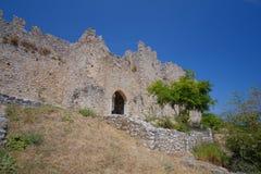 Platamon城堡在希腊 图库摄影