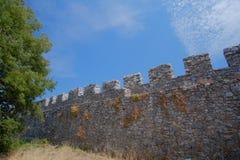 Platamon城堡在希腊 免版税库存照片