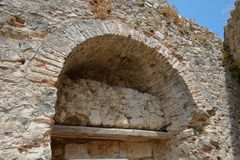 Platamon城堡在希腊 免版税图库摄影