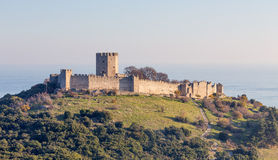Platamon城堡, Pieria,希腊 库存图片