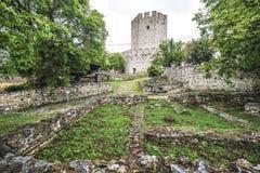 Platamon castle in eastern Greece, Platamonas landmark Royalty Free Stock Images