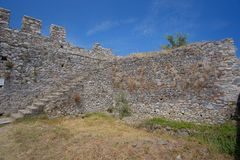 Platamon Castle in Greece Stock Image