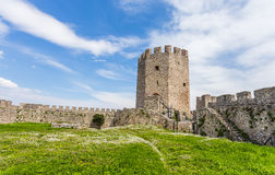 Platamon fortress against dramatic sky Royalty Free Stock Images