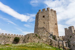 Platamon fortress against dramatic sky Stock Images