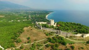 Platamon fortress. In olympic riviera, Greece stock video footage