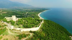 Platamon fortress. In olympic riviera, Greece stock video