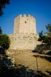 Platamon kasztel blisko Platamonas miasta Grecja fotografia royalty free