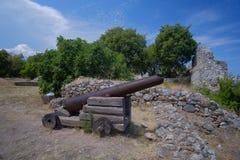 Platamon-Schloss in Griechenland lizenzfreies stockfoto