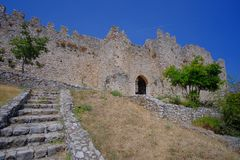 Platamon-Schloss in Griechenland stockfotografie
