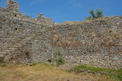 Platamon-Schloss in Griechenland stockbilder