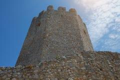 Platamon slott i Grekland Arkivfoto