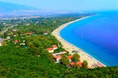 Platamon Stadt, Griechenland lizenzfreies stockfoto