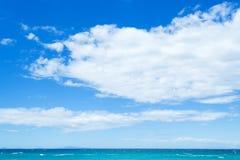 Platamona海滩在多云天空下 库存图片