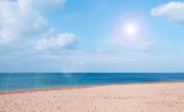 Platamona beach. On a spring day Stock Photos
