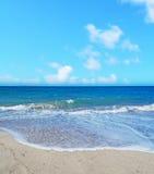 Platamona beach under a blue sky Royalty Free Stock Images