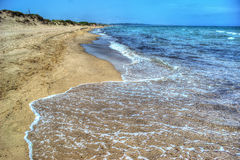 Platamona foreshore on a clear day Stock Photography