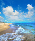 Platamona foreshore on a cloudy day Stock Photography