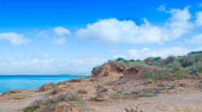 Platamona shoreline Royalty Free Stock Photo