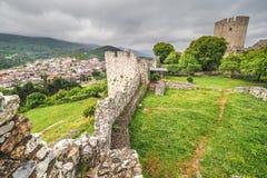 Platamonas古老城堡希腊 库存照片