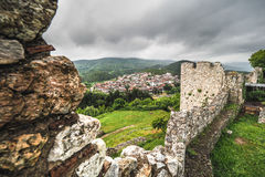 Platamonas古老城堡 HDR图象全景 免版税库存图片