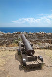 从Platamonas城堡,希腊的看法 免版税库存照片