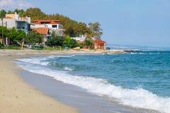 Platamonas beach. Pieria, Greece Royalty Free Stock Image