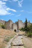 Platamonas slott Grekland Arkivbilder