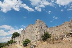 Platamonas slott Grekland Arkivfoton