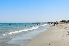 Platanias beach Crete Royalty Free Stock Photo