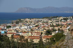 Platanias, Creta Fotografia Stock