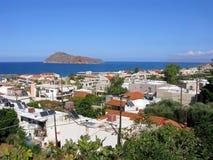Platanias miejscowość turystyczna, Crete, Grecja Zdjęcia Royalty Free