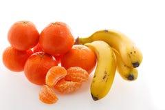 Platanos et mandarines image stock