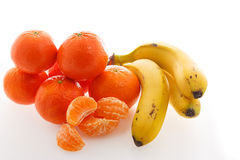 Platanos and tangerines Stock Image