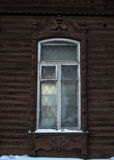 Platband of the Siberian window Stock Photo