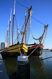 Platboomde boten Royalty-vrije Stock Foto