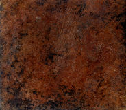 Plate. Brown metal plate texture background Royalty Free Stock Images