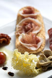Plate of antipasti royalty free stock photo