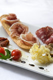 Plate of antipasti Royalty Free Stock Photography