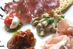 Plate of antipasti Stock Photo
