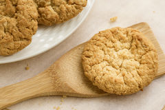 Plate of Anzac Biscuits. Stock Images
