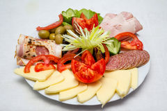 Plate with appetizers Royalty Free Stock Photography