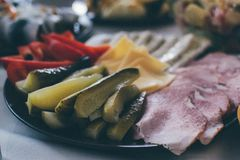 Plate of appetizers royalty free stock photo