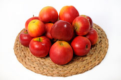 Plate with apples Stock Image