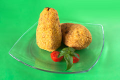 Plate With Arancini Stock Image