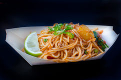 A plate of asian noodles Royalty Free Stock Photography