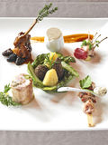 Plate of assorted appetizers Royalty Free Stock Images
