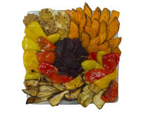 Plate of  baked vegetables. Stock Images