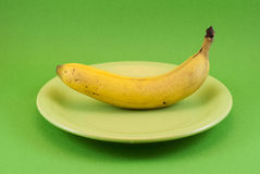 Plate banana Stock Photo