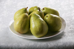 Plate of Bartlett pears Stock Photography
