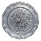 Plate with a bas-relief of the hunters Royalty Free Stock Image